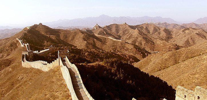 Marele Zid din China a pierdut 2.000 de km din lungimea sa